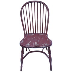 Reproduction Spindle Back Red Side Chair
