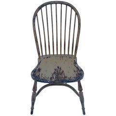 Reproduction Spindle Back Pumpkin Color Side Chair