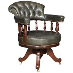 Mahogany Framed Captains Office Chair