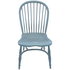 Reproduction Spindle Back Whitewash Side Chair