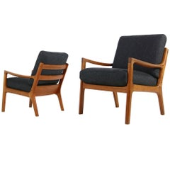 Pair of Danish 1960s Teak Lounge Easy Chairs by Ole Wanscher CADO, Denmark