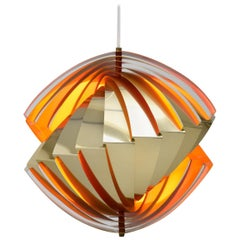 Konkylie Ceiling Lamp in Brass by Louis Weisdorf for Lyfa