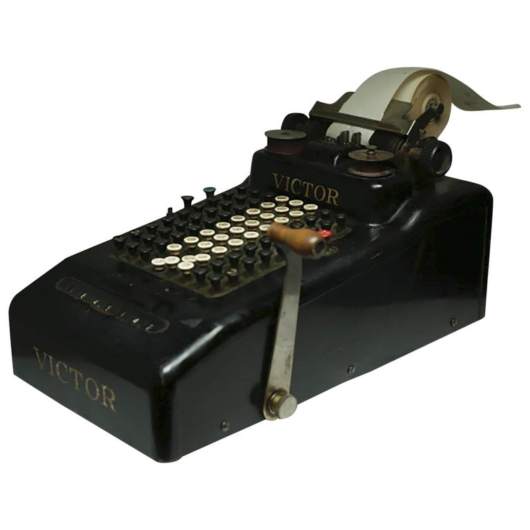 Early 20th Century Antique Victor Adding Machine, circa 1910