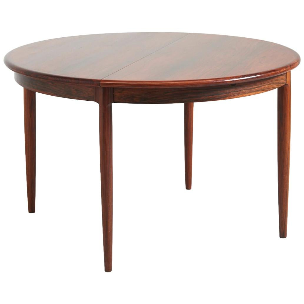 Round Dining Table In Rosewood By Niels Otto Møller, 1960
