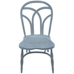 Reproduction Gothic Interlace Whitewash Armless Chair