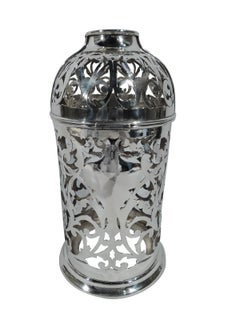 American Art Nouveau Sterling Silver Wine Bottle Holder