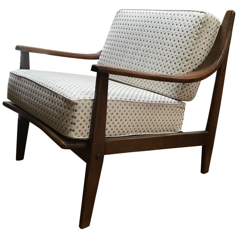 Italian Beechwood Armchair with Cushions from 1960s