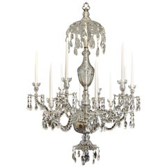 Period Late 18th Century Georgian Crystal Chandelier