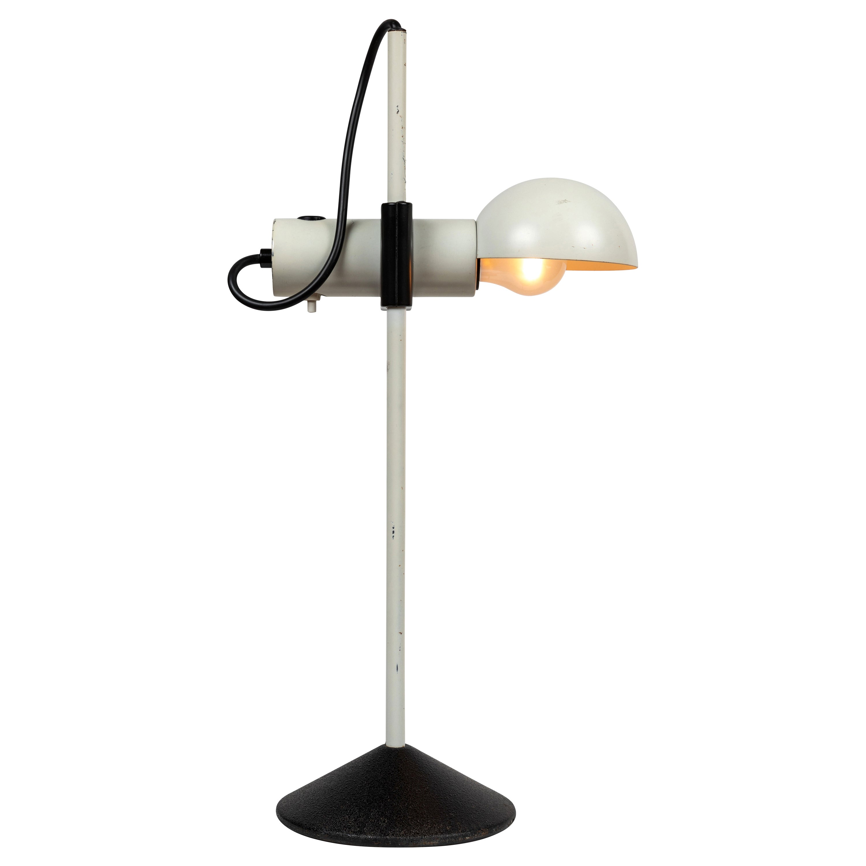 1980s Barbieri e Marianelli White Table Lamp for Tronconi