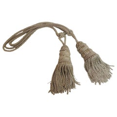 Pair of Celedon Green Silk Tassels