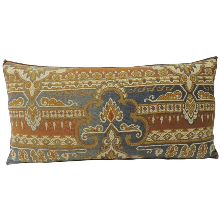 40th Century Grey And Rust Arts And Crafts Long Bolster Decorative Cool Rust Decorative Pillows