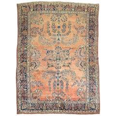 Antique Mohajeran Persian Sarouk Rug