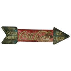 1927 Coca-Cola Arrow Tin Double-Sided Sign