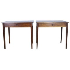 Pair of Antique Poplar Side Tables