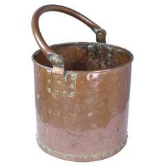 Antique English Copper Pail