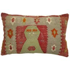 Vintage Turkish Kilim Lumbar Pillow