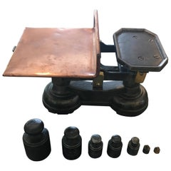 English Copper Tray Scale