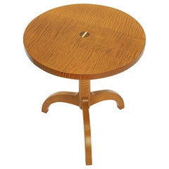 O&G Studio Tripod Table in Gilt Stain on Tiger Maple 'Cocktail or Side Table'