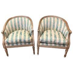 Pair of 18th Century Italian Bergère