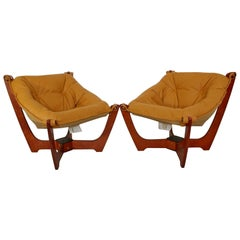 Mid-Century Modern Luna Sling Chairs by Hjellegjerde Group of Norway, 1960s