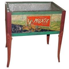 1930s Original Moxie Soda Tin Ice Chest Cooler