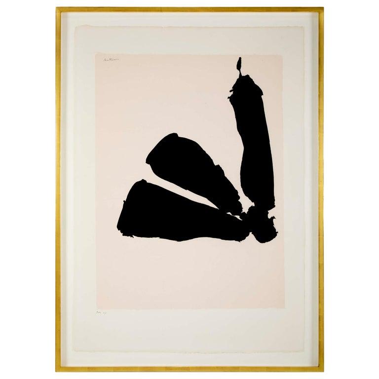 """""""Africa 8"""" Silkscreen by Robert Motherwell"""