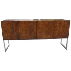 Mid-Century Modern Burl Wood Sideboard Credenza Baughman for Thayer Coggin 1970s