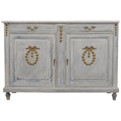 French Buffet in Louis XVI Style with Distressed Finish
