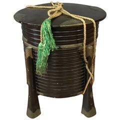"""Antique Japanese Edo Period """"Hakko Bako"""" Lacquer Samurai Box """"A"""""""