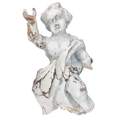 17th Century Baroque Hand-Carved Putto, Ecclesiastical Corbel, Bavarian, Germany
