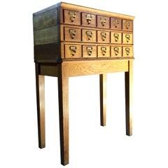 Midcentury Chest of Drawers Haberdashery Industrial Loft Style Oak