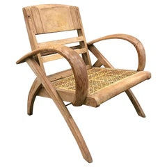 1950s Cerused Lounge Chair Attributed to Rene Gabriel