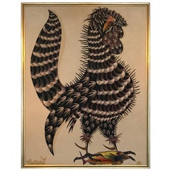 Jean Lurcat Framed Tapestry of a Rooster