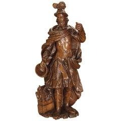 Wonderful 17th Century Oak Statue of Saint Florian, Patron Saint of Firefighters