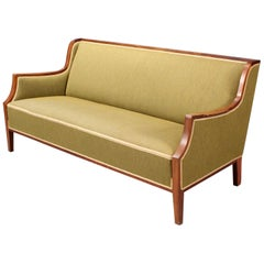 Danish Midcentury Sofa with Rosewood Frame by Frits Henningsen 1950s