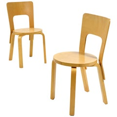 Alvar Aalto Pair of Model 66 Chairs