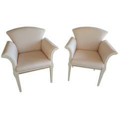 Pair of Armchairs Polished to High Gloss