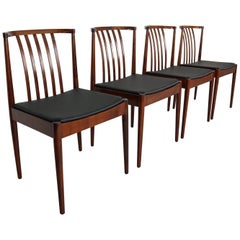 Set of Four Casala Solid Rosewood Dining-Room Chairs, 1960s