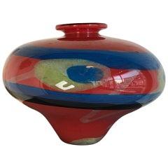 Art Glass Vase Córdoba Pear by Ioan Nemtoi, Early Work