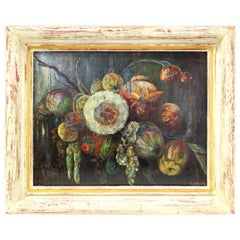 Gustave Penzyna Ecole de Paris French Expressionist Still Life Oil Painting