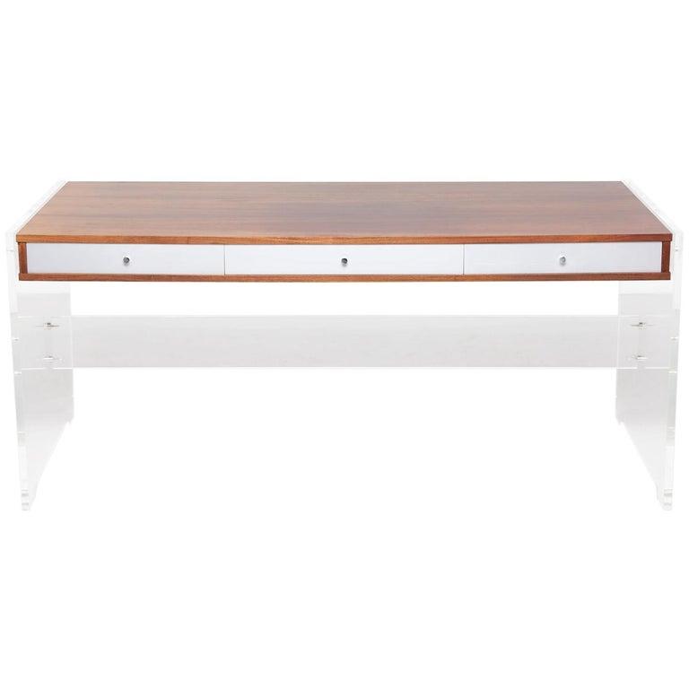 Rosewood Desk by Danish Designer Poul Nørreklit, 1970s For Sale