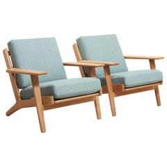Pair of Easy Chairs Model GE-290 by Hans Wegner, 1953