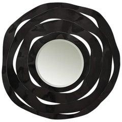 Round Black Ribbon Mirror