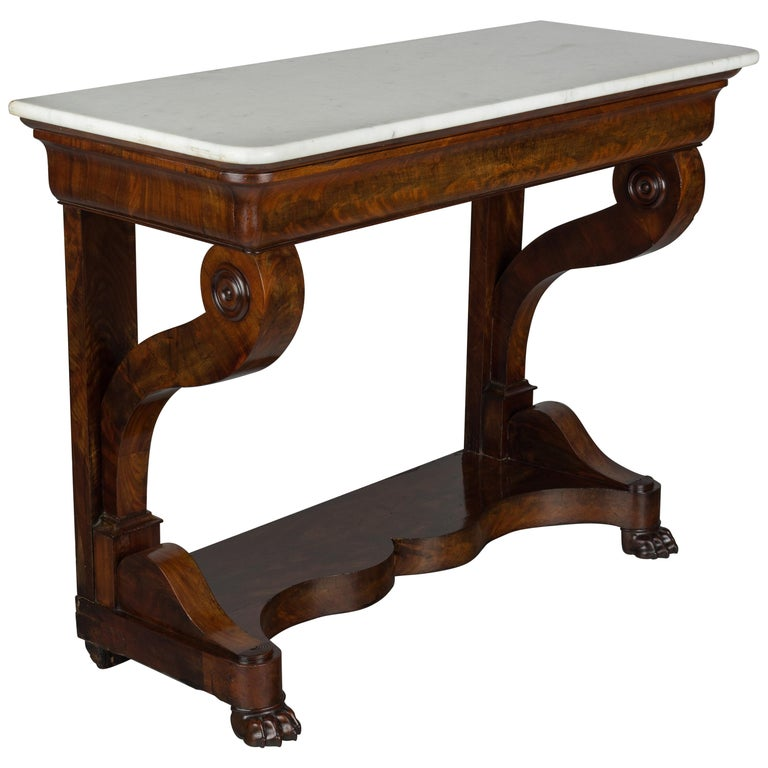 19th Century French Louis-Philippe Mahogany Console For Sale