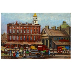 """Faneuil Hall and Quincy Market"" by John Rosenfield, Ford Times Art Collection"