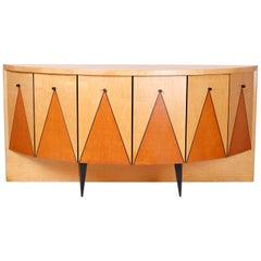 Postmodern Demilune Credenza or Cabinet