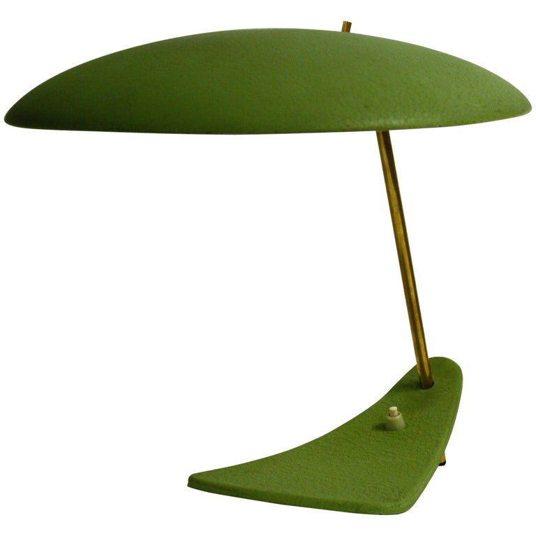 Vintage Green Stilnovo Table Lamp, 1950s, Italy