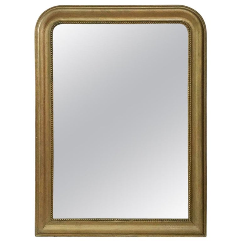 French Gilded Wood Louis Philippe Mirror
