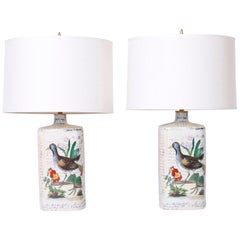 Pair of Porcelain Table Lamps by John Derian