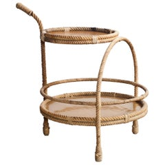 Audoux-Minet Rope and Fiberglass Side Table
